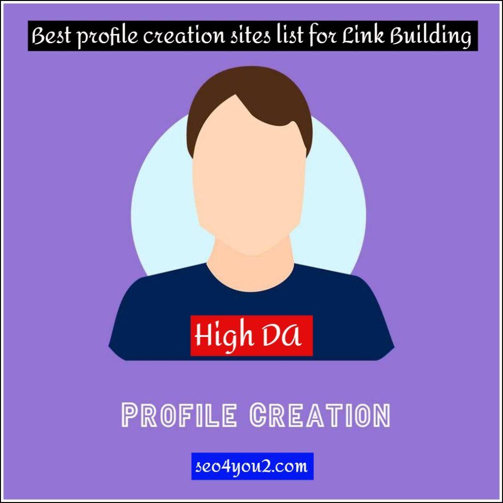 Best profile creation sites list for Link Building