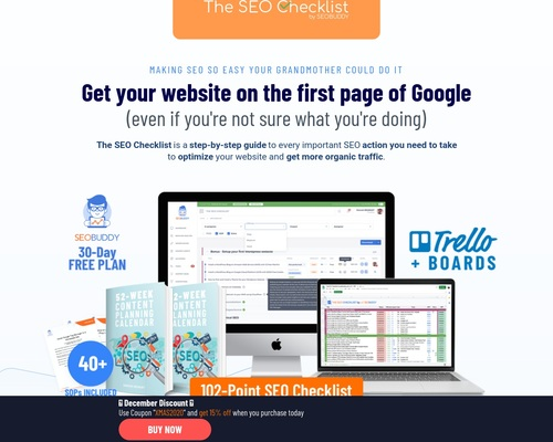 The SEO Checklist - Get to page one of Google the easier way